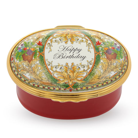 "Enamel Box | Musical ""Happy Birthday"" Box 