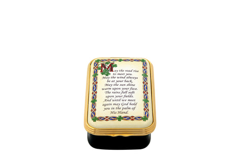 Enamel Box | Irish Blessing Box | May the Road Rise Up To Meet You... | Halcyon Days | Made in England