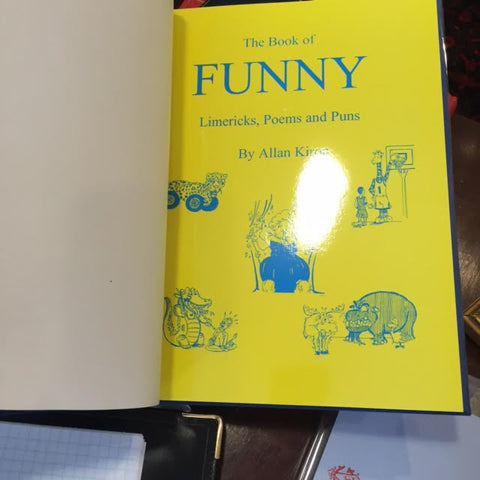 Book Binding / The Book of Funny by Allan Kiron-Book-Sterling-and-Burke
