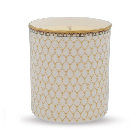 Gordon Castle Antler Trellis Candle in Ivory | Bone China | Halcyon Days | Made in England-Candle-Sterling-and-Burke