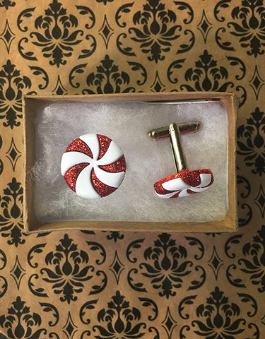 Peppermint Candy Cufflinks