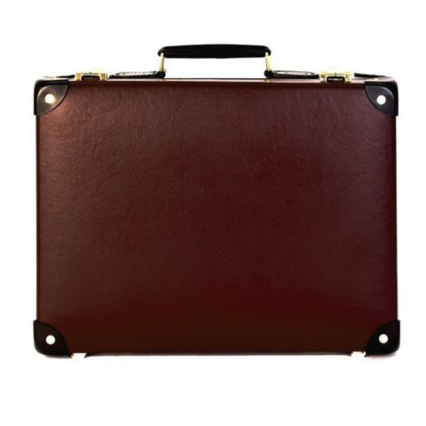 "Globe-Trotter Centenary 16"" Slim Attache Case in Oxblood"