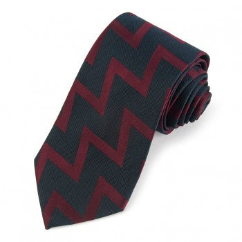 Royal Artillery Tie, Navy and Burgundy | Silk Tie | Benson and Clegg | Made in England-Necktie-Sterling-and-Burke