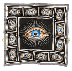 Halcyon Days Gladys Deacon Silk Scarf in Black, 36 by 36 Inches-Ladies Silk Scarf-Sterling-and-Burke