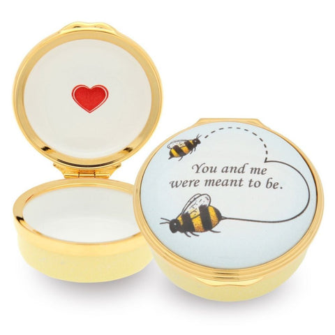 Enamel Box | Bee Enamel Box | Halcyon Days | Made in England
