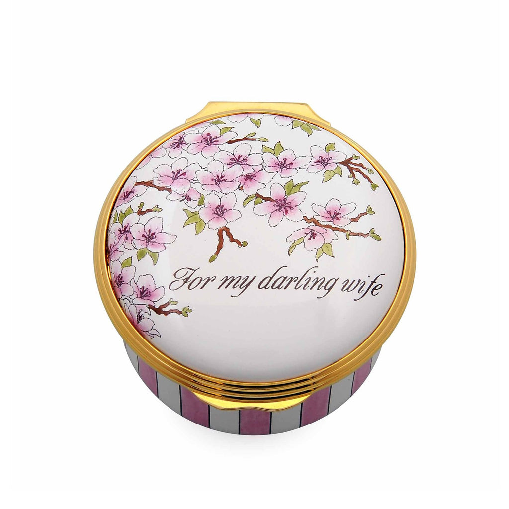 For My Darling Wife-Enamel Box-Sterling-and-Burke
