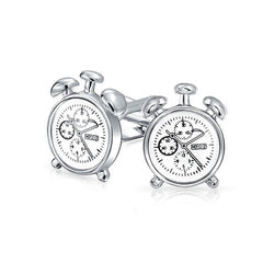 Clock Cufflinks | Silver-Cufflinks-Sterling-and-Burke