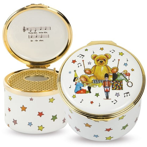 Musical Enamel Box | 'Twinkle Twinkle Little Star' Musical Box | Halcyon Days | Made in England