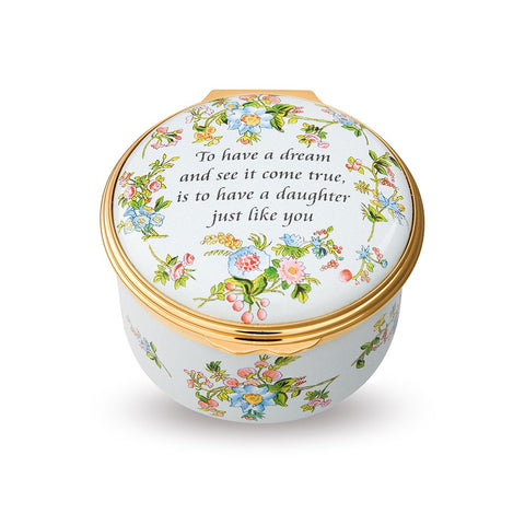 Enamel Box | To Have A Dream And See It Come True Enamel Box | Halcyon Days | Made in England-Enamel Box-Sterling-and-Burke