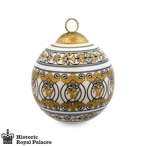 Christmas Bauble | Christmas Ornament | Holiday Decorations | Kensington Palace's Royal Gates | 3 by 3 | Halcyon Days | Made in England