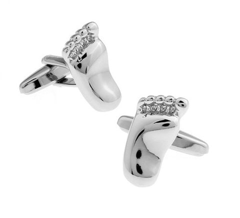 Feet Cufflinks | Baby Feet Cufflinks | Silver | Sterling and Burke