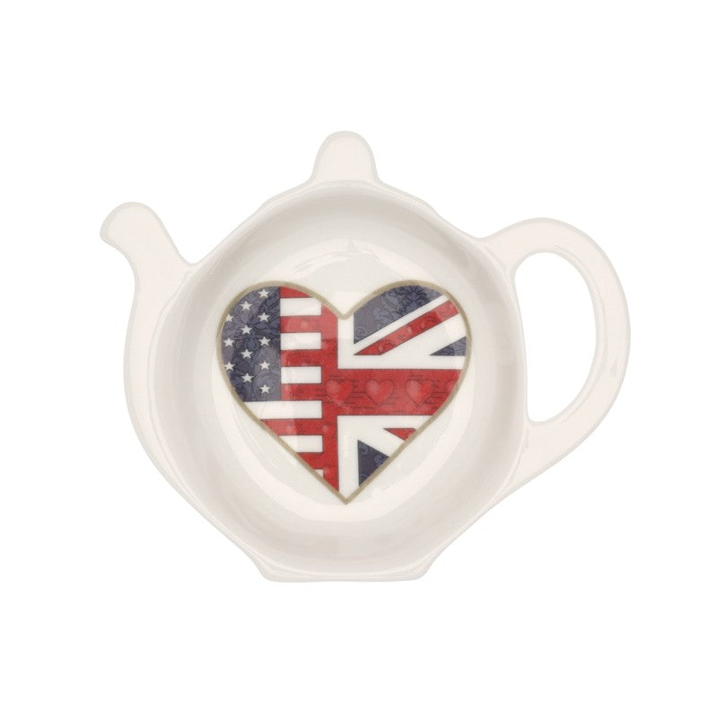 A Very Special Relationship Collection | Fine Bone English China | A Very Special Relationship Tea Bag Tidy | Halcyon Days | Made in England-Teabag Tidy-Sterling-and-Burke