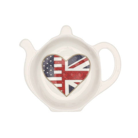 A Very Special Relationship Collection | Fine Bone English China | A Very Special Relationship Tea Bag Tidy | Halcyon Days | Made in England