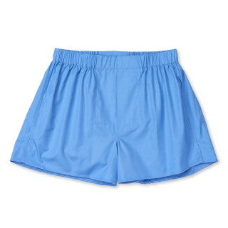 Budd Cotton Chairman Boxer Shorts in Saxe Blue