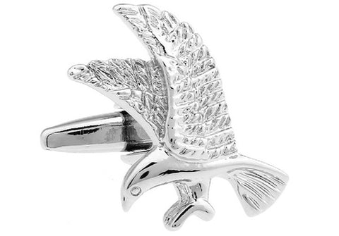 Flying Eagle Cufflinks with Silver Plating