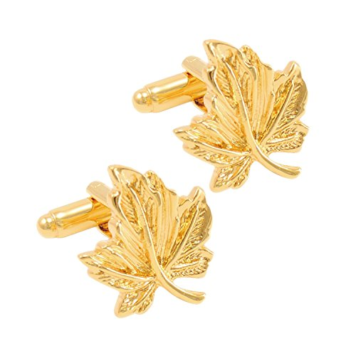 Leaf Cufflinks-Cufflinks-Sterling-and-Burke
