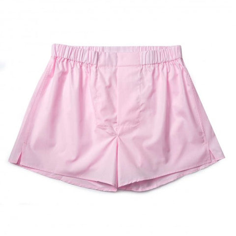 Budd Cotton Chairman Boxer Shorts in Pink
