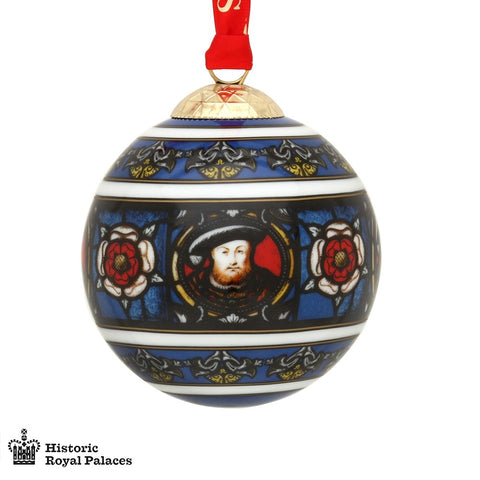 Christmas Bauble / Christmas Ornament / Holiday Decorations | Henry VIII | 3 by 3 | Halcyon Days | Made in England-Ornament-Sterling-and-Burke