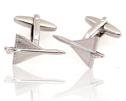 Concord Cuff Links | Concord Airplane Cufflinks-Cufflinks-Sterling-and-Burke