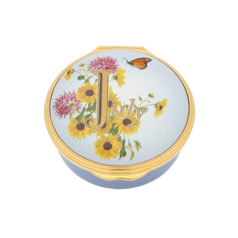 "Halcyon Days ""July"" Enamel Box"