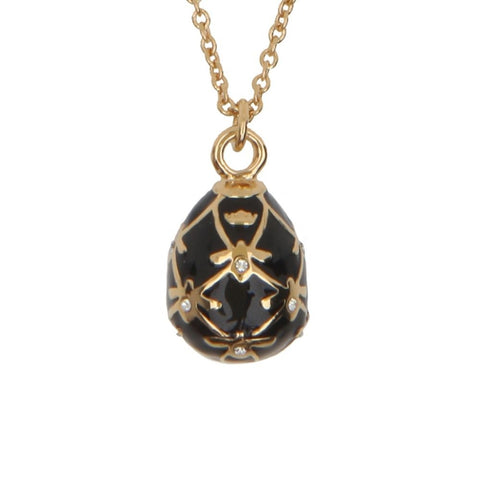 Halcyon Days Bee Sparkle Pendant Necklace in Black and Gold