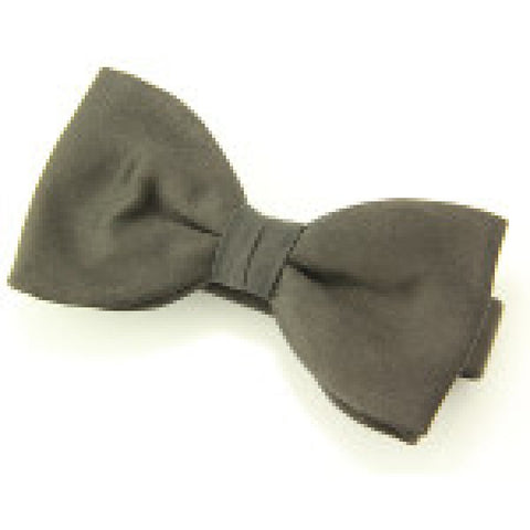Black Narrow Rib Bow Tie (Ready Tied)