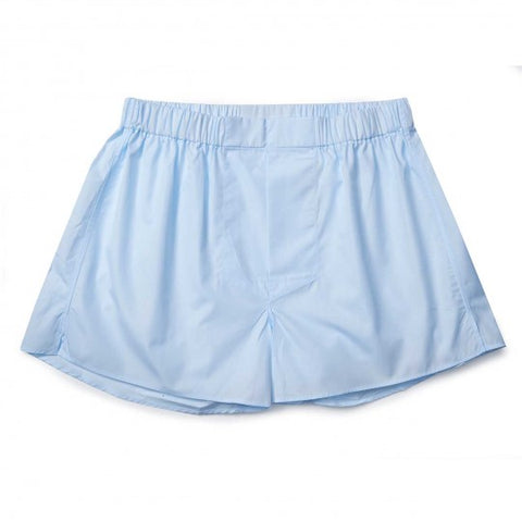 Budd Cotton Chairman Boxer Shorts in Sky Blue