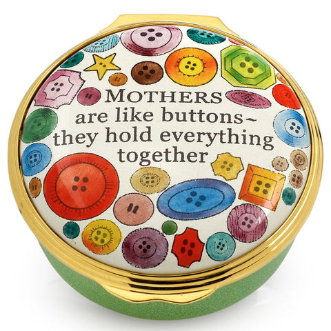 "Enamel Box | ""Mother's Are Like Buttons ~ They Hold Everything Together"" Enamel Box 