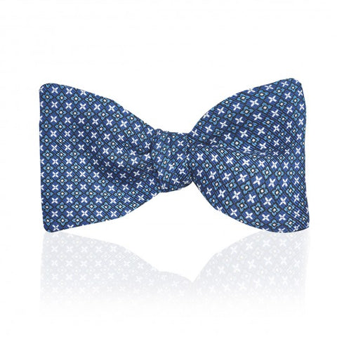 Neat Fancy Cross 2.5 Inch Thistle Bow Tie | Budd Shirtmakers | Made in England