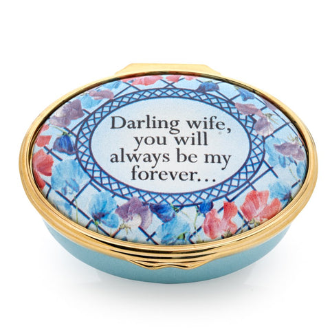 "Enamel Box | ""Darling Wife, You Will Always Be My Forever..."" Enamel Box 