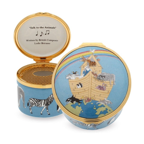 Musical Enamel Box | Noah's Ark Musical Box | Halcyon Days | Made in England