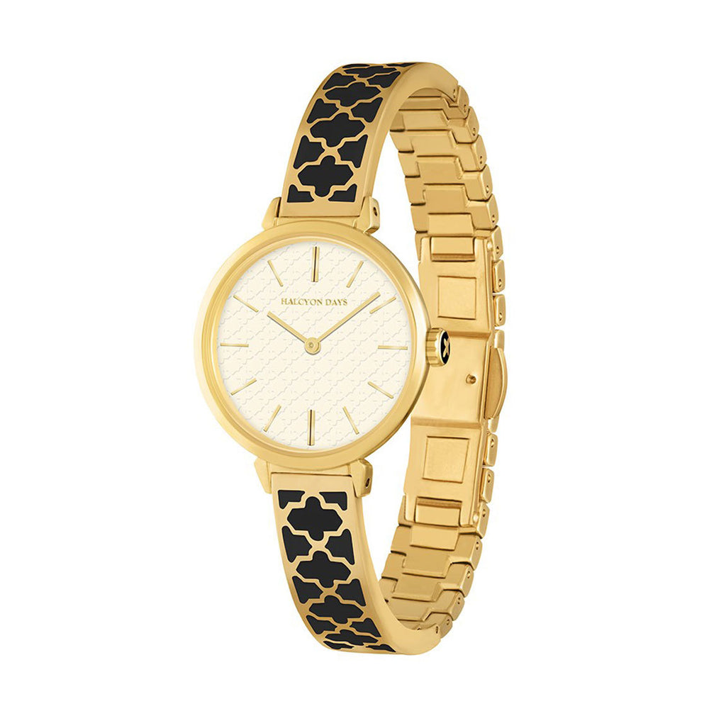 Agama Black and Gold Watch-Ladies Watch-Sterling-and-Burke