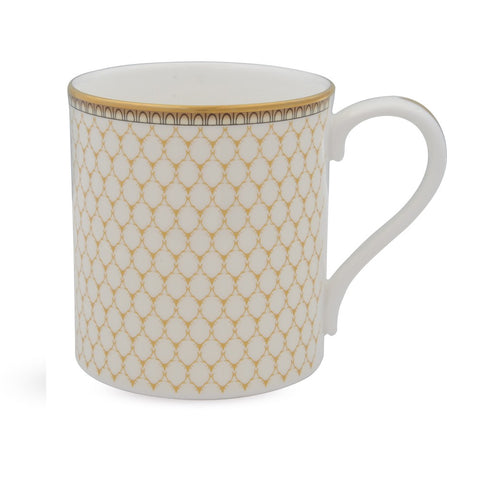 English Fine Bone China | Antler Trellis Mug | Ivory | Halcyon Days | Made in England