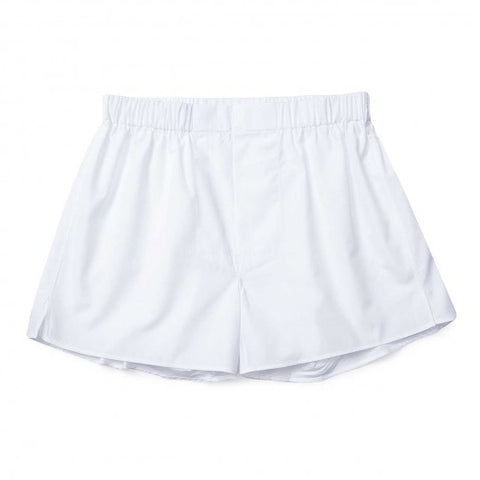 Budd Cotton Chairman Boxer Shorts in White