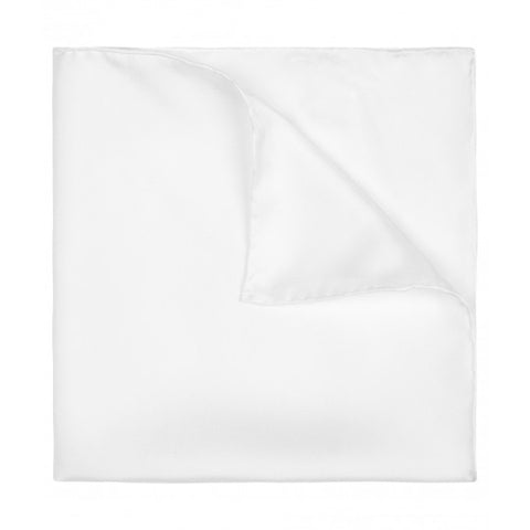 Plain Silk Pocket Square, Ivory | Made in England by Budd Shirtmakers