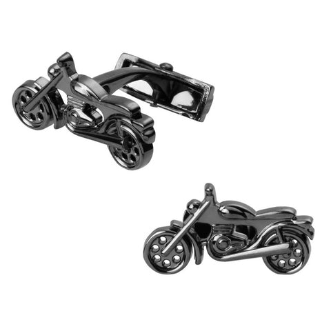 Motorcycle Cufflinks | Gunmetal | Sterling and Burke-Cufflinks-Sterling-and-Burke