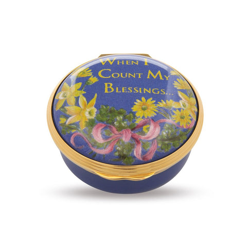 "Halcyon Days ""When I Count My Blessings"" Enamel Box 