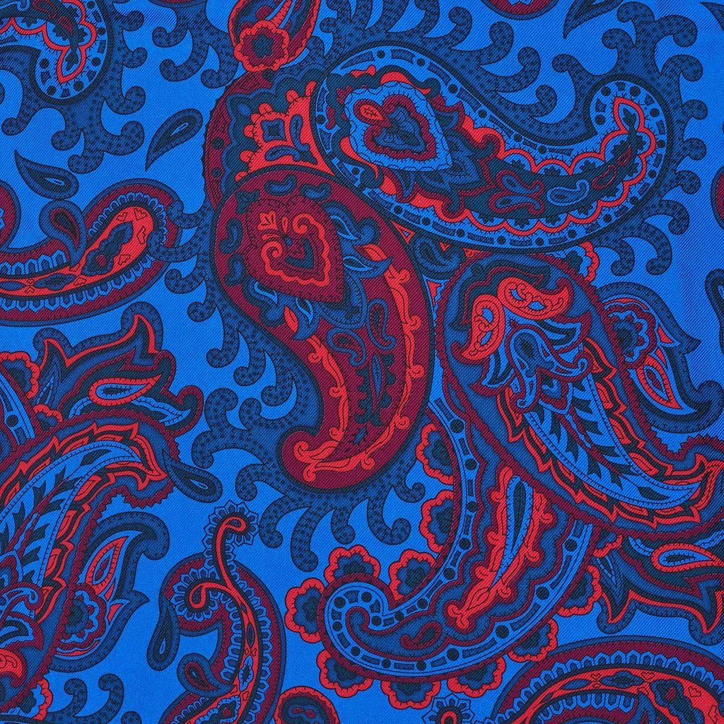 Budd Exclusive Paisley, Blue | Silk Tie | Budd Shirtmakers | Made in England-Necktie-Sterling-and-Burke