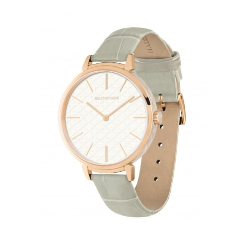 Agama Sport Watch, Grey and Rose Gold | Halcyon Days | Made in England-Ladies Watch-Sterling-and-Burke