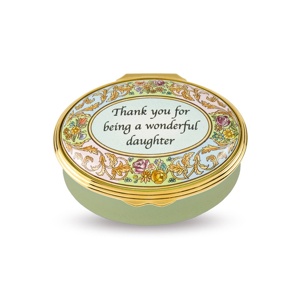 "Enamel Box | ""Thank You For Being A Wonderful Daughter"" Enamel Box 