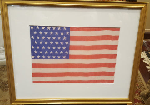 49 Star Silk American Flag, 11 by 8 Inches