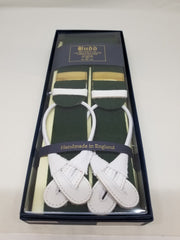 Budd Boxcloth Braces, Gut End in Various Colors-Braces / Suspenders-Sterling-and-Burke
