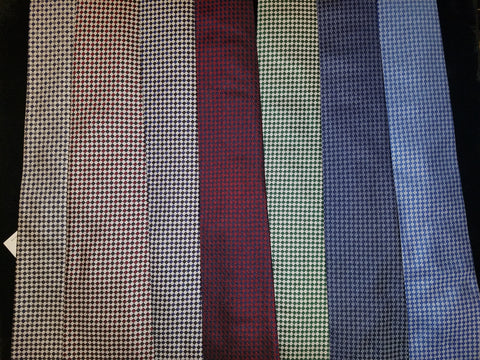 Diced Tri-Colored Woven Tie | Multiple Colors | Budd Shirtmakers | Made in England