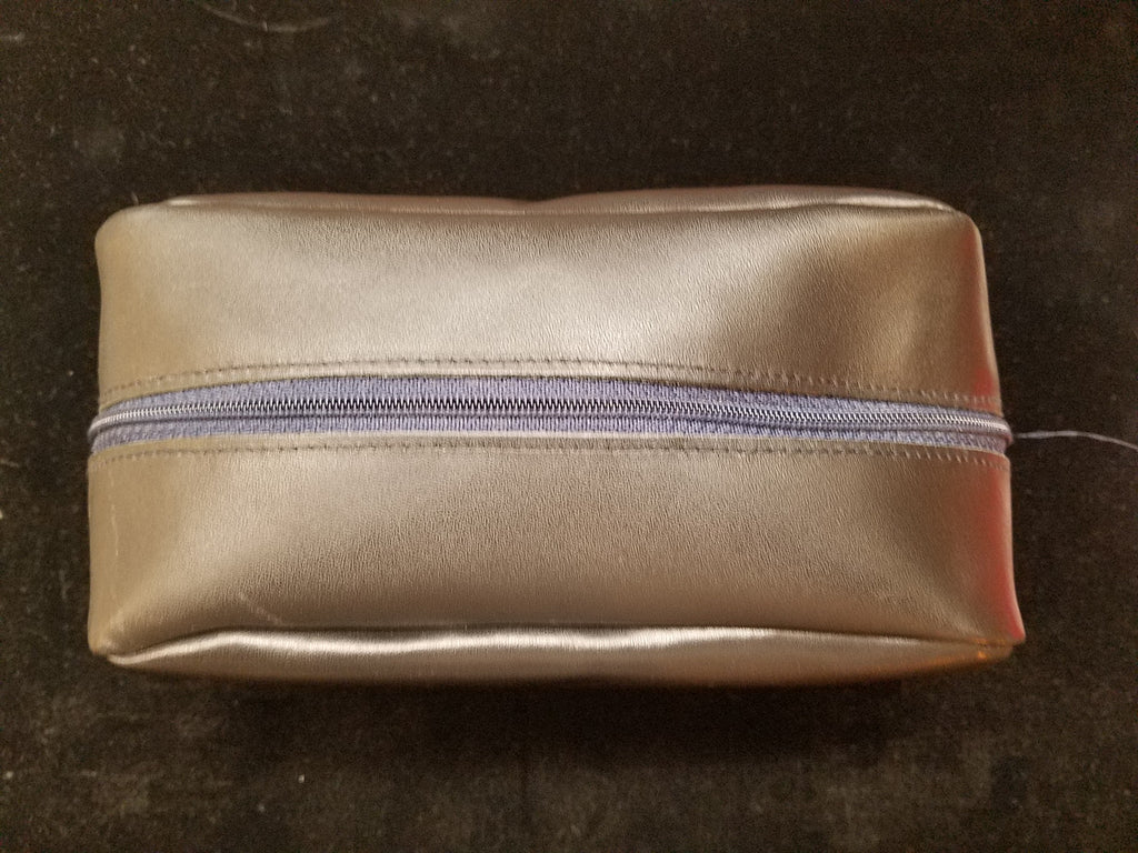 Toilet Kit | Travel Kit | Calf Leather Utility Kit | Make Up Bag | Cosmetics Case | Made in England by Charing Cross-Toiletry Bag-Sterling-and-Burke