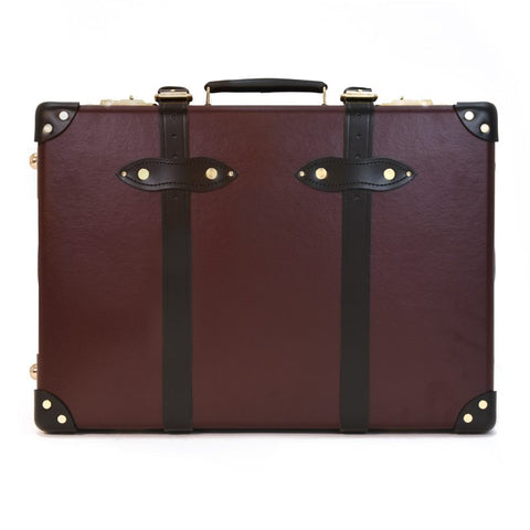 "Globe-Trotter Centenary 20"" Trolley Suitcase in Oxblood"