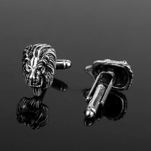 Lion Head Cufflinks | Silver