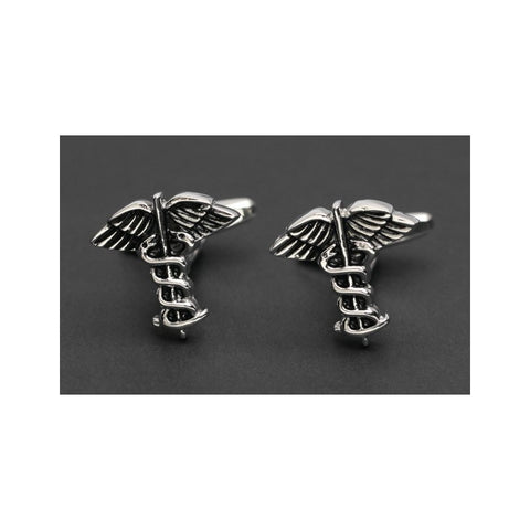 Caduceus Cufflinks-Cufflinks-Sterling-and-Burke