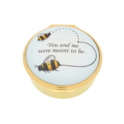 Enamel Box | Bee Enamel Box | Halcyon Days | Made in England-Enamel Box-Sterling-and-Burke