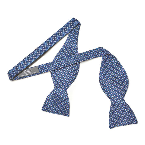 Neat Fancy Cross 2.5 Inch Thistle Bow Tie | Budd Shirtmakers | Made in England-Bow Tie-Sterling-and-Burke