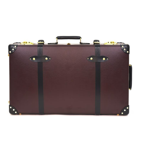 "Globe-Trotter Centenary 30"" Suitcase With Wheels in Oxblood"